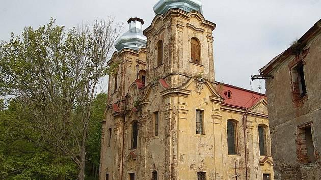 Poutní kostel Skoky u Žlutic.
