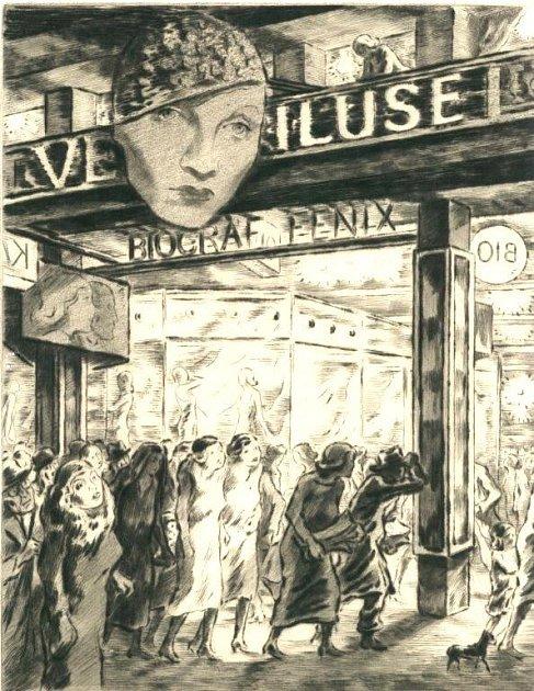 Vladimár Silovský (1891- 1974), Vbiografu, 1938, suchá jehla.