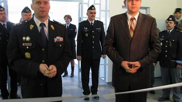 Ministr ve vězení. Ministr spravedlnosti Jiří Pospíšil navštívil věznici Vykmanov.