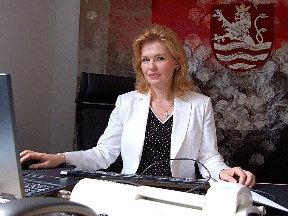 Primátorka města Veronika Vlková.
