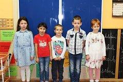 Žáci 1. třídy ze Základní školy v Útvině.