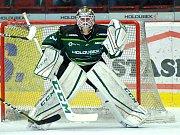 Hokejisté HC Energie (v zeleném) hostili Vsetín.