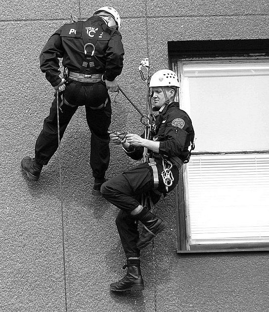 VÝCVIK V LEZECKÝCH TECHNIKÁCH zužitkovali strážníci při zadržení třiatřicetiletého zloděje.