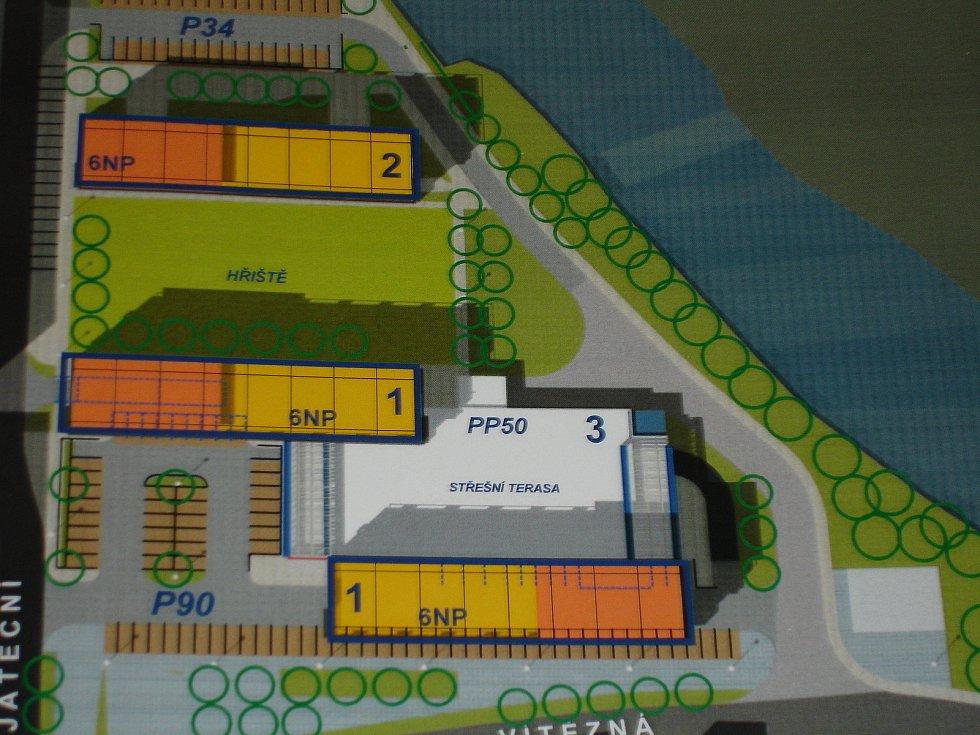 Takto měla podle původních plánů vypadat výstavba na Čertově ostrově.