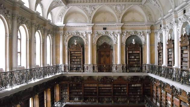Knihovna tepelského kláštera.