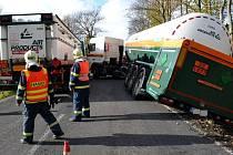 Havárie cisterny s dusíkem. Ilustrační foto
