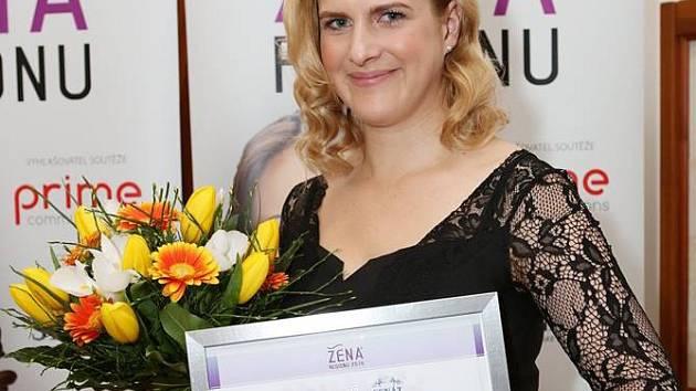 Jana Šperlová coby Žena regionu pro rok 2014.