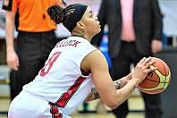 Basketbalistka DS DSK Basketball Nymburk KV Američanka Kristi Bellock.