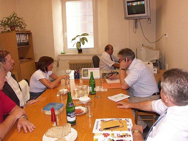 Krajské volby 2008: Volební štáb KSČM.