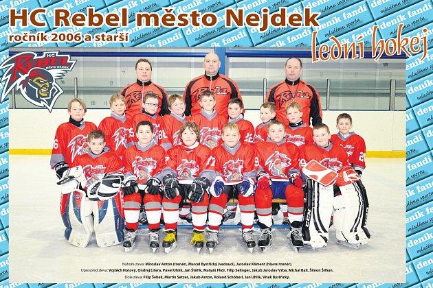 HC Rebel město Nejdek ročník 2006 a starší.