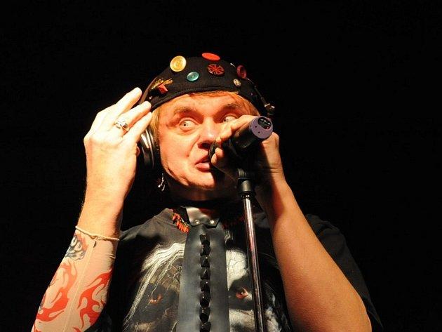 Zpěvák a baskytarista Vilém Čok.