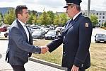 Návštěva ministra vnitra Jana Hamáčka u krajských hasičů.