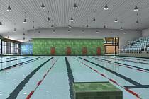 ZAPLAVEME SI. Takhle by měl vypadat bazén u KV Arény v Tuhnicích. Stavba by měla začít na jaře a dokončen by měl být  na podzim příštího roku. Bazén bude z nerezi, s toboganem a bazénkem pro neplavce a tribunou.
