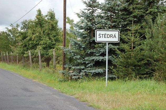 Obec Štedrá.