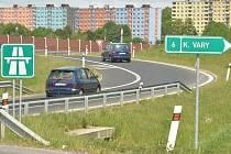 Nájezd na dálnici.