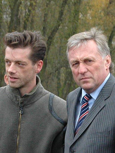 Jaroslav Fujdiar a předseda vlády Miroslav Topolánek.