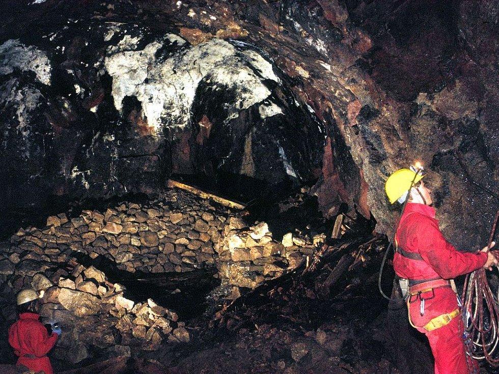 Cínový důl Mauricius u Hřebečné.