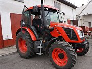 Nový kolový traktor Zetor Proxima CL 80 (7441.15) Stage III B používají žáci oboru Agropodnikání Integrované střední školy (ISŠ) Cheb, kteří studují v odloučeném pracovišti v Dalovicích.