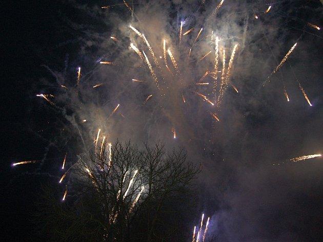 Novoroční ohňostroj.