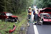 Hned tři zraněné si vyžádala nehoda mezi Bochovem a Toužimí.