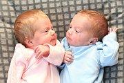 Sašenka a Filípek Vokroj z Chebu se narodili 11. 5. 2015