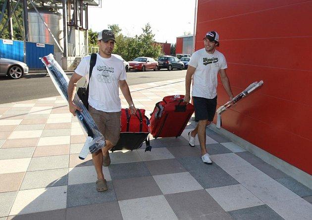 Hokejová reprezentace se sešla v Karlových Varech.