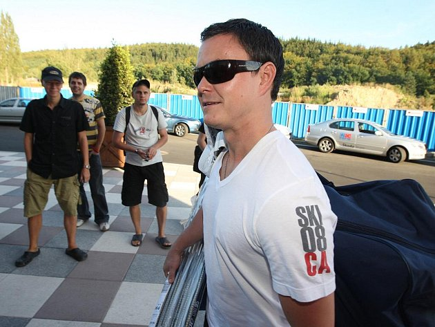 Hokejová reprezentace se sešla v Karlových Varech. Jiří Hudler.