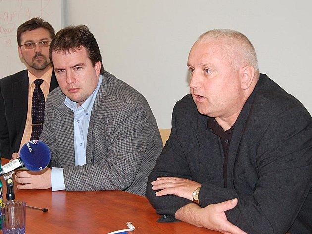 Současný management KKN. Zleva Kamil Kastner, Miloš Dobiáš a David Hanzl.