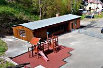 REPLIKA BUDOVY LÁGROVÉHO DOMKU slouží jako zázemí pro vstup do Štoly č. 1 a na trasu Jáchymovského pekla.
