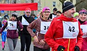 Novoročního běhu na Svatošské skály se zúčastnilo bezmála sto padesát startujících.