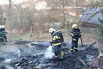 Hasiči zasahovali například při požáru chatky