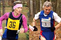 Nejúspěšnějšími vytrvalci Karlovarského kraje v roce 2009 byli letos na regionálních závodech neporažení Ivana Sekyrová a Karel Hellmich.