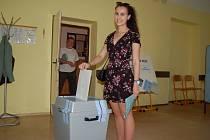 Průměrná účast voličů, takový byl do pátečního odpoledne zájem o volby do Evropského parlamentu ve volebním okrsku v ulici Krále Jiřího v Karlových Varech podle předsedkyně komise Marie Waisové.