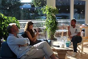 Talk show Libora Boučka na Mezinárodním filmovém festivalu Karlovy Vary.