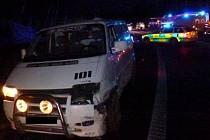 Nehoda uzavřela hlavní tah na Prahu na dvě hodiny