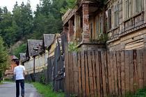 Zdevastované lázně Kyselka.