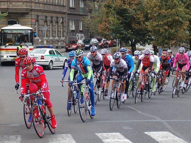 Cyklistický závod Praha — Karlovy Vary — Praha. Průjezd Karlovými Vary.