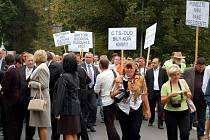 Návštěva prezidenta ČR Václava Klause a jeho manželky na Karlovarsku - úterý 13. září