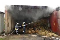 Požár seníku v Hájku