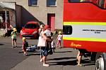 V rámci příměstského tábora se děti podívaly k hasičům.