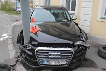 Dopravní nehoda v Západní ulici.
