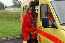 Petr Pokorný z Vodní záchranné služby Nové Mlýny před jedním z výjezdů karlovarské záchranky