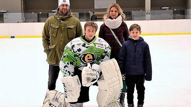 Jan Bednář s rodinou