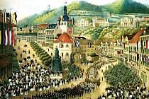 BOMBASTICKÁ OSLAVA500. výročí založení Karlových Varů v září roku 1858.