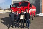 Zástupci Karlovarského kraje navštívili hasiče ve Zbirohu.