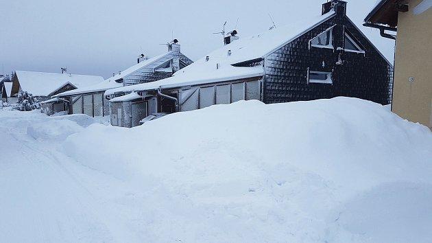 Sněhová kalamita na západě Čech.