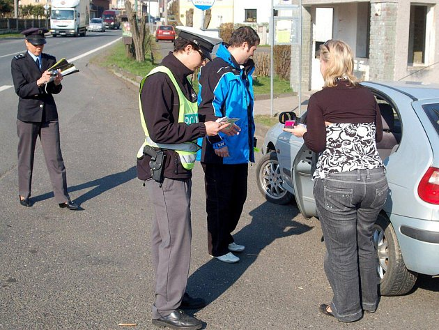 Dopravně bezpečnostní akce v Krásném Údolí na Karlovarsku