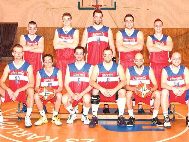 Basketbalisté karlovarské Thermie.