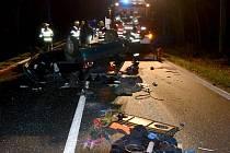 Místo tragické nehody u Mezirolí.