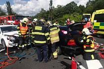 Nehody, u nichž hasiči v posledních dnech zasahovali.